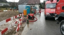 Wasserleitungsbruch bei Neubau in Reiden